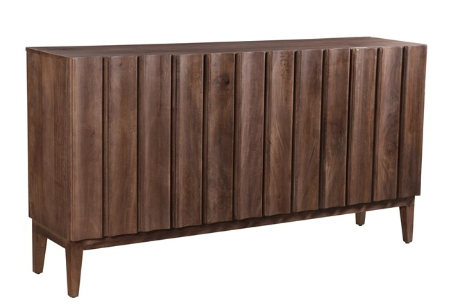 RECLAIMED BROWN CORRUGATED SIDEBOARD  - 360