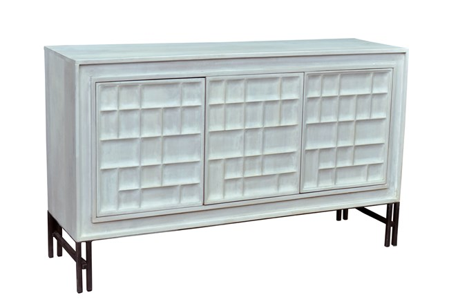 White Wash Textured Sideboard - 360