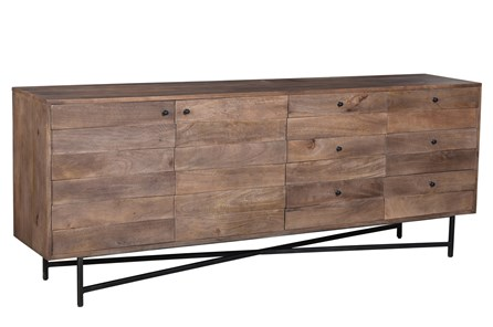 DARK BROWN METAL STAND SIDEBOARD