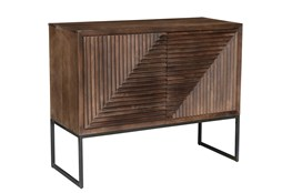 DARK BROWN METAL STAND CABINET