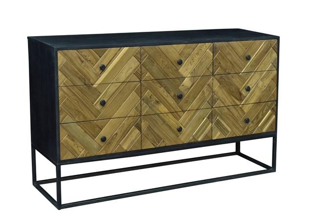 Brown + Black 9 Drawer Sideboard - 360