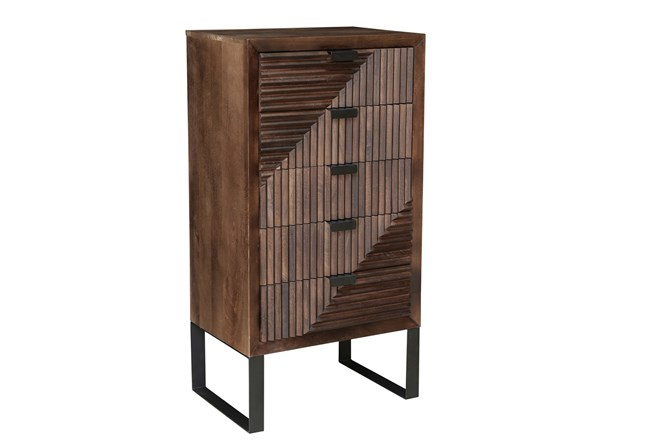 RECLAIMED BROWN WOOD 5 DRAWER CABINET - 360