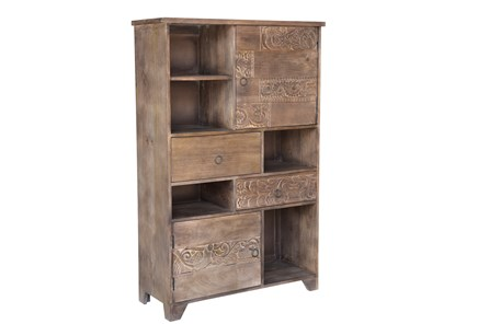 RECLAIMED MULTI TIER BOOKSHELF