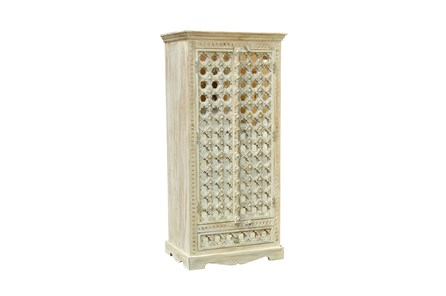 White Wash Mirrored Cabinet
