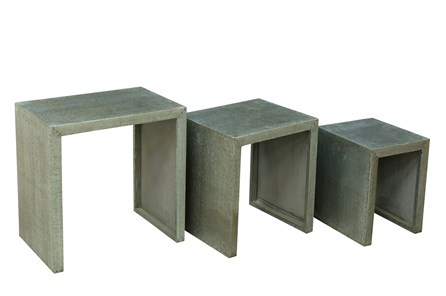 Grey Iron Nesting Tables