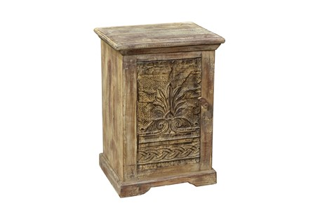 Reclaimed Wood Iron Panel Side Table