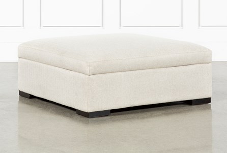 Norah Straw Accent Storage Ottoman By Nate Berkus And Jeremiah Brent