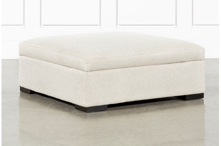 Norah Straw Accent Storage Ottoman By Nate Berkus And Jeremiah Brent - Main