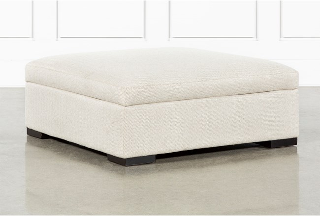 Norah Straw Accent Storage Ottoman By Nate Berkus And Jeremiah Brent - 360