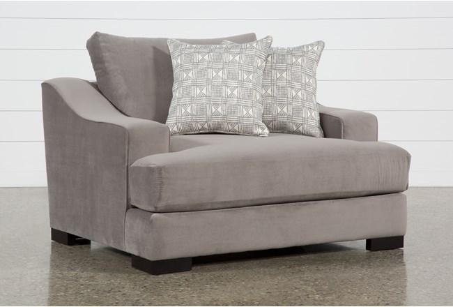 Lodge Velvet Oversized Chair - 360