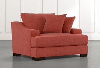 Lodge Foam Red Oversized Chair