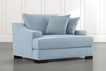 Lodge Foam Light Blue Oversized Chair