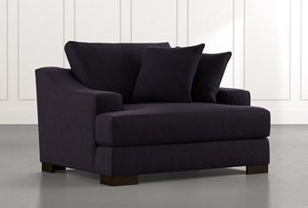 Lodge Foam Black Oversized Chair