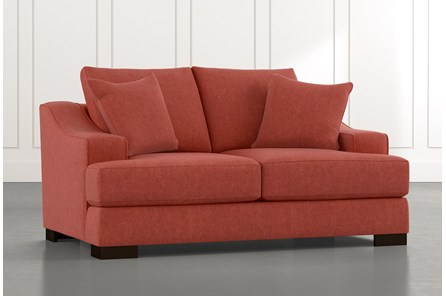 Lodge Red Foam Loveseat