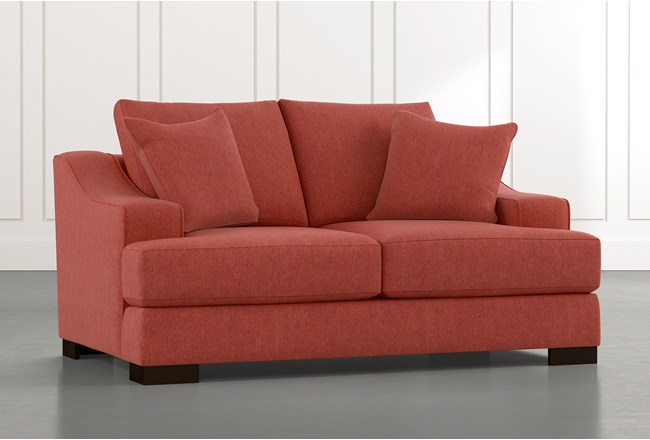 Lodge Red Foam Loveseat - 360