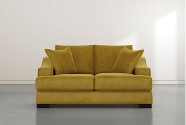Lodge Yellow Foam Loveseat