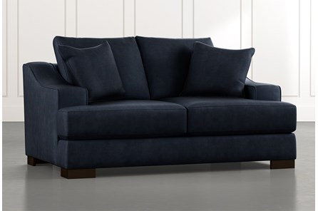 Lodge Navy Blue Foam Loveseat