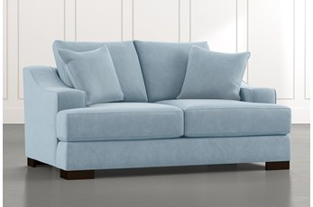 Lodge Light Blue Foam Loveseat
