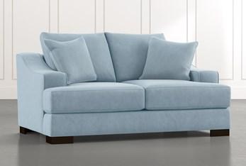 Lodge Light Blue Foam Loveseat