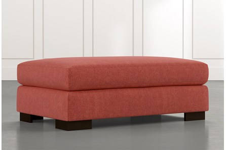 Lodge Red Ottoman