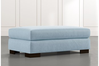 Lodge Light Blue Ottoman