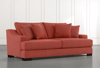 "Lodge 96"" Red Sofa"
