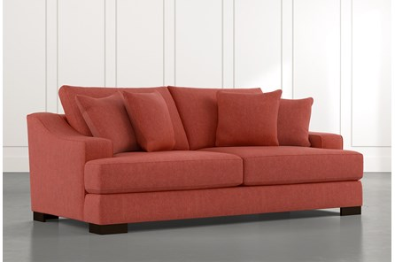 Lodge Foam Red Sofa