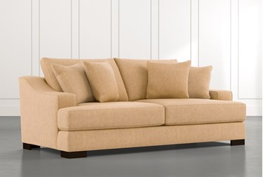 "Lodge 96"" Yellow Sofa"