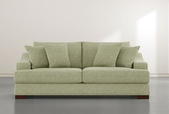 "Lodge 96"" Green Sofa"
