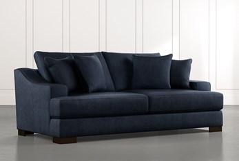"Lodge 96"" Navy Blue Sofa"