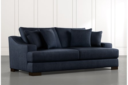 Lodge Foam Navy Blue Sofa