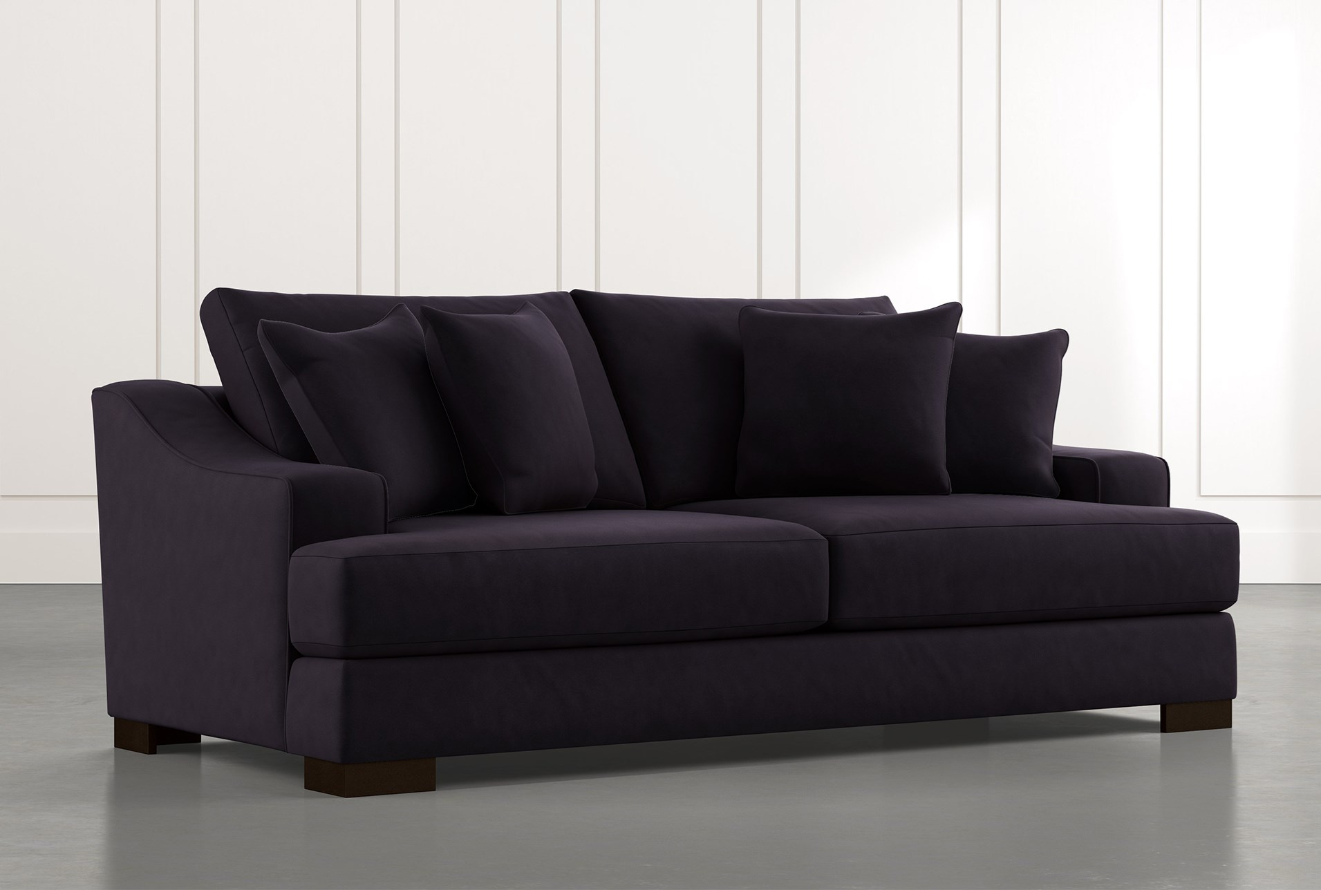 Lodge Foam Black Sofa