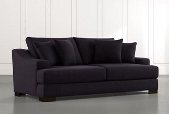 "Lodge 96"" Black Sofa"