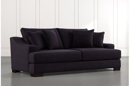 Lodge Foam Black Sofa
