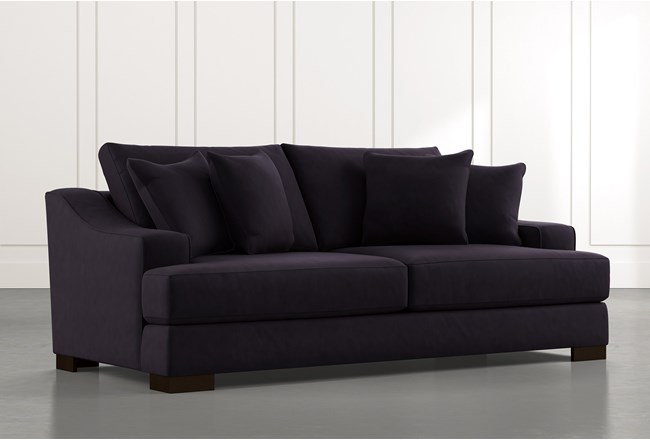 Lodge Foam Black Sofa - 360