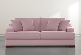 """Lodge Velvet Pink 96"""" Sofa"""