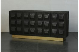"Faceted 71"" Sideboard With Plinth Base"