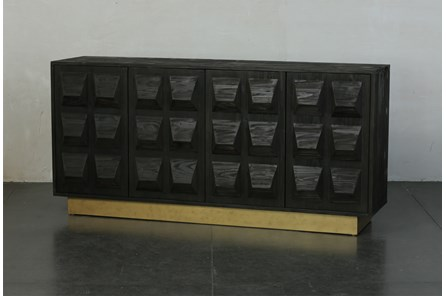 Faceted Sideboard With Plinth Base