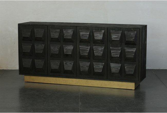 Faceted Sideboard With Plinth Base - 360