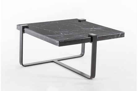 Black Marble End Table By Nate Berkus and Jeremiah Brent