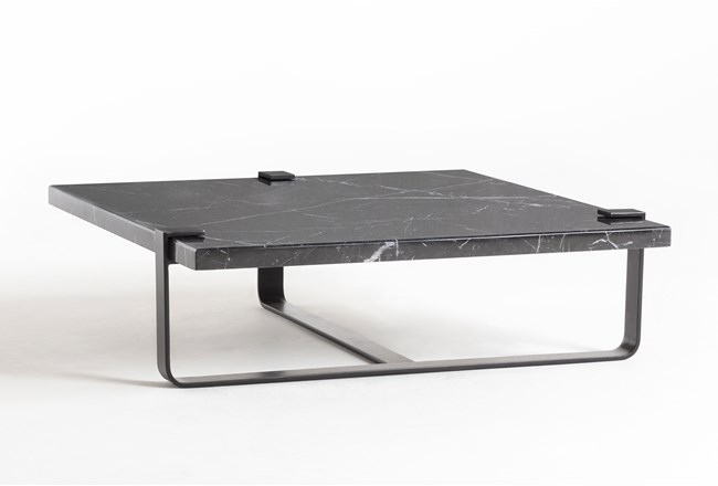 Black Marble Coffee Table By Nate Berkus and Jeremiah Brent  - 360