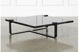 Black Marble Coffee Table By Nate Berkus and Jeremiah Brent