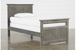 Summit Grey Twin Panel Bed