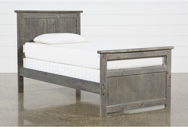 Summit Grey Twin Panel Bed - 360