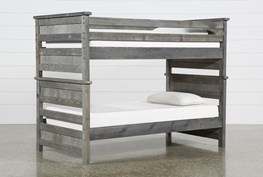 Summit Grey Twin Over Twin Bunk Bed