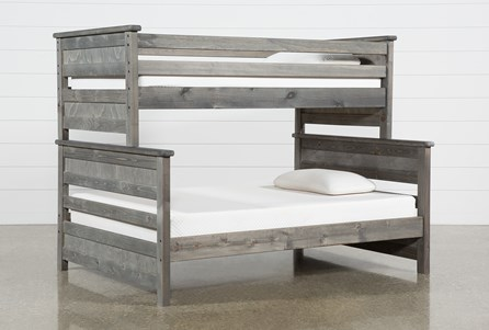 Summit Grey Twin Over Full Bunk Bed