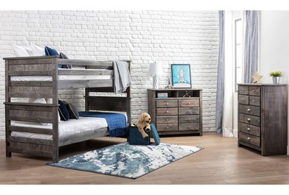 Summit Grey Full Over Full Bunk Bed Living Spaces