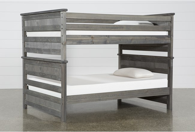 Summit Grey Full Over Full Bunk Bed - 360