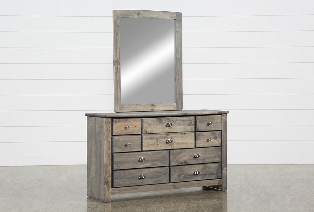 Summit Grey Dresser/Mirror