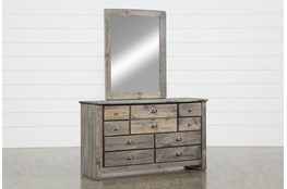 Summit Grey Dresser/Mirror